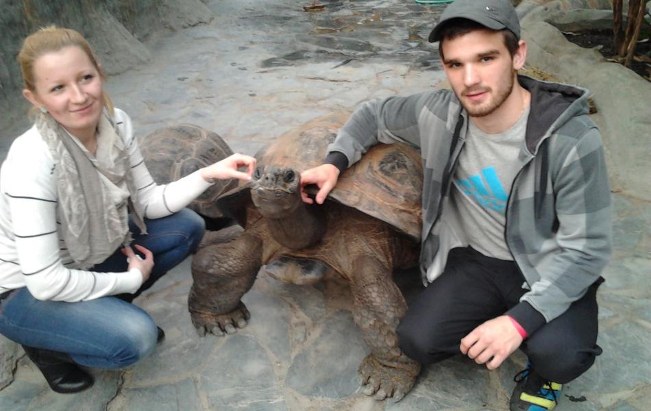 Já a přítelkyně a želva :-)